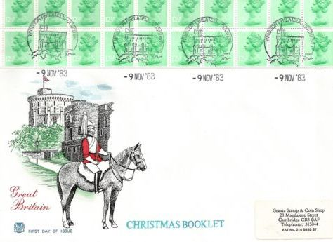 1983 GB - FDC - FX6 - £2.20 Christmas Bklt Pane (Addressd)